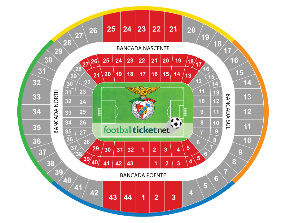Sl benfica vs tondela 28 04 2018 football ticket net for Piso 0 estadio da luz